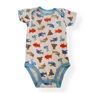 Size 6 Month Carters Onesie Puppy Print